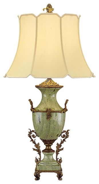John Richard  Marble and Bronze Table Lamp traditional table lamps