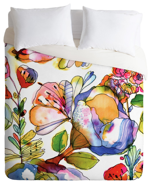 CayenaBlanca Blossom Pastel Duvet Cover eclectic-duvet-covers