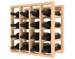 Lattice Stacking Wine Cubicle in Ponderosa Pine, (Unstained) contemporary-wine-racks