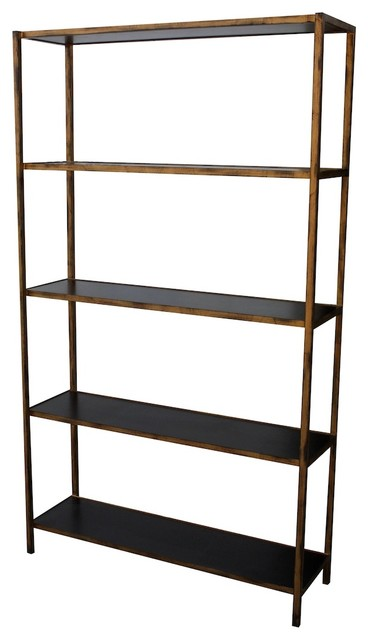 Newport Metal Bookcase - Contemporary - Bookcases - by Mortise & Tenon Custom Furniture Store