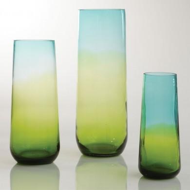 Ombre Taper Vase Aqua/Green contemporary-vases