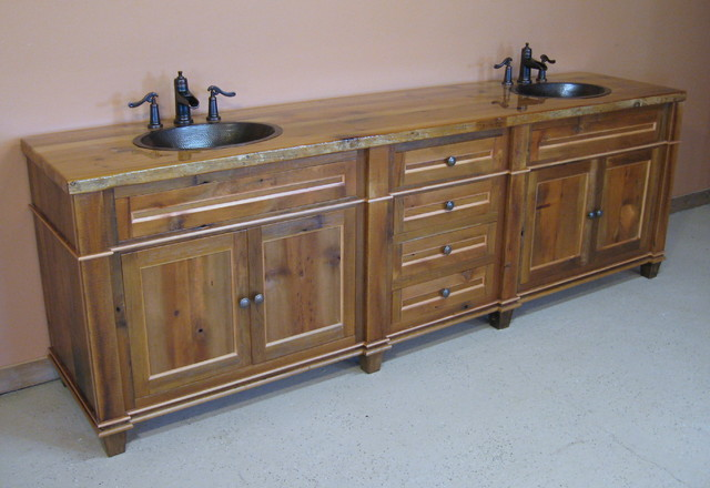 Reclaimed Barn Wood Bathroom Vanity - Traditional - Bathroom Vanities And Sink Consoles ...