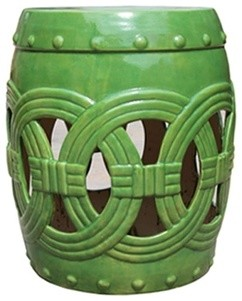 Tender Green Circle of Life Garden Stool traditional-accent-and-garden-stools