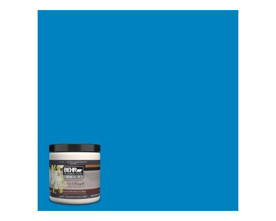 Behr Premium Plus Ultra Caribbean Blue Interior/Exterior Paint Sample - Behr's Caribbean Blue is the perfect Seuss-y hue.