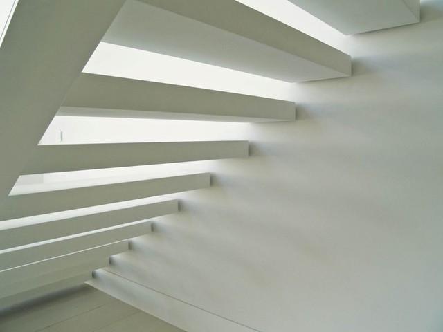 Quintessential Modern tropical-staircase