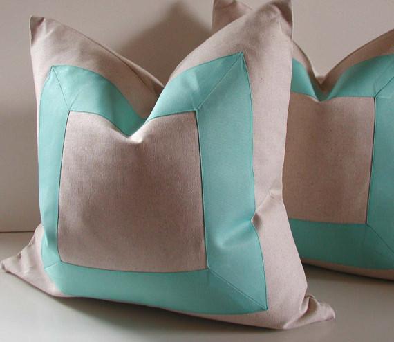 Decorative Pillows, Aqua By studiotullia contemporary-decorative-pillows
