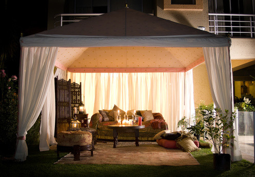 Retractable Canvas eclectic-patio