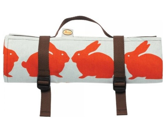 Anorak Kissing Rabbits Picnic Blanket from Anorak -
