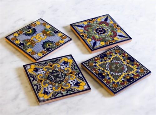 Moroccan Midnight Talavera Coasters modern-coasters