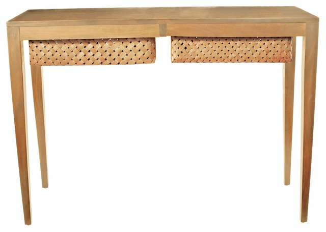 Lazy Susan LZS-752004 Teak Singer Console - Contemporary - Console Tables - by Arcadian Home ...