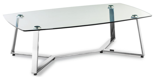 Lemon Drop Long Coffee Table Clear Glass contemporary-coffee-tables