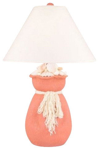 in coral table lamp beach style table lamps by qlick shops. Black Bedroom Furniture Sets. Home Design Ideas