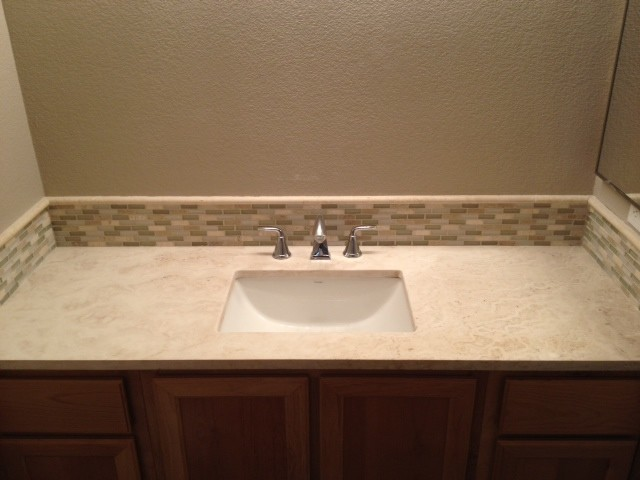 Travertine Bathroom Counter Top Contemporary Bathroom Sacramento By O