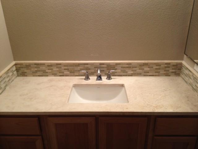 travertine bathroom counter top contemporary bathroom sacramento by one step travertine ForTravertine Bathroom Countertops