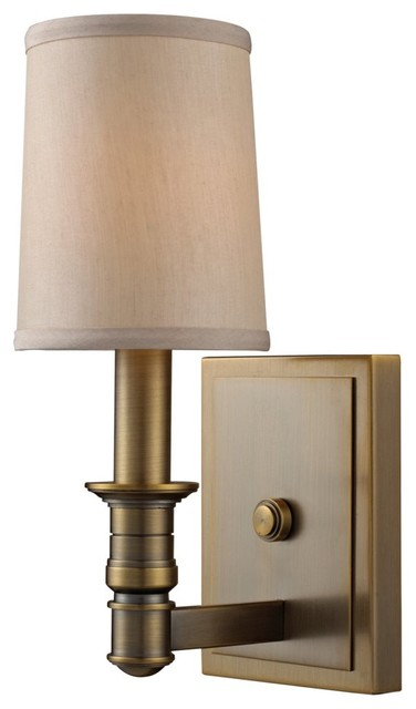 Antique Brass Wall Sconces Home Design Inside