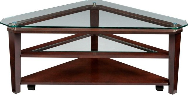 Broyhill Furniture - Ellerbe Triangle Cocktail Table and End Table Set - 3431-01 - Contemporary ...