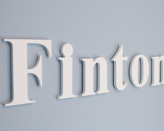 Homeworks Etc - Wood Wall Hanging Letters - Available in espresso and white, Capital and lowercase