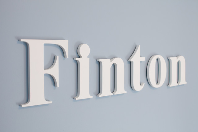 Wood Wall Hanging Letters - Modern - Wall Letters - vancouver - by Homeworks Etc Designs