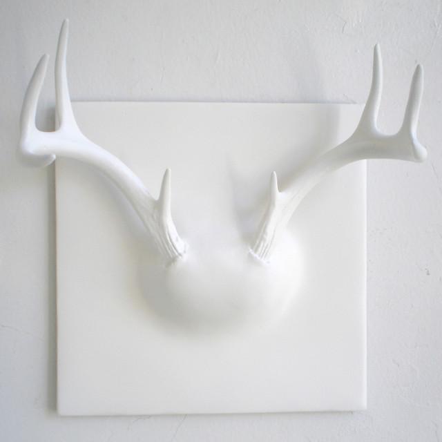 Erich Ginder Ghost Antler Coat Rack modern-wall-hooks