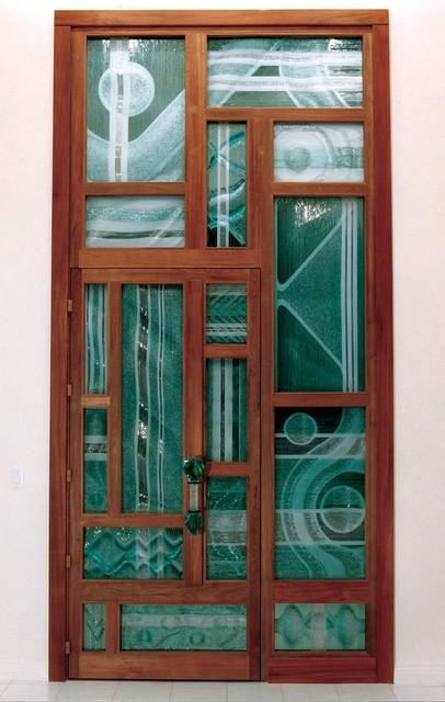 Stargate ~ Custom Entry Door contemporary-front-doors