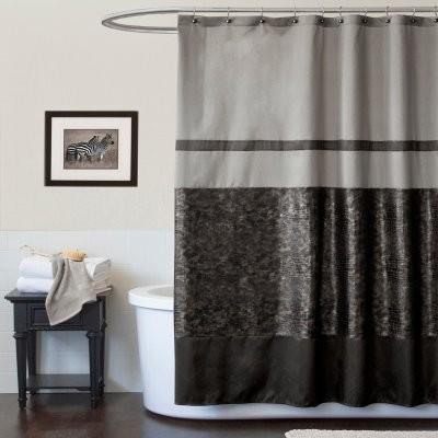 Lush Decor Croc Shower Curtain modern-shower-curtains