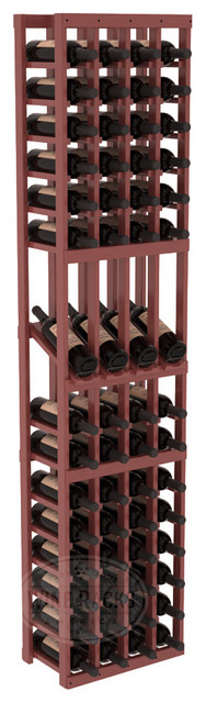 4 Column Display Row Cellar Kit in Pine with Cherry Stain + Satin Finish traditional-wine-racks