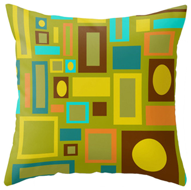 Mid Century Style Throw Pillows : Modern Mid Century Inspired Accent Pillow - Contemporary - Decorative Pillows - by Crash Pad Designs