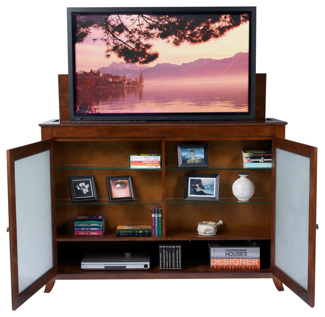 brookside tv lift cabinet for flat screen tv 39 s up to 55