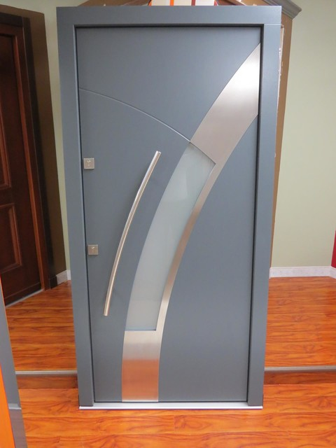 Modern exterior door model 015 in stock modern front doors new york by modern home luxury - Modern home luxury doors ...