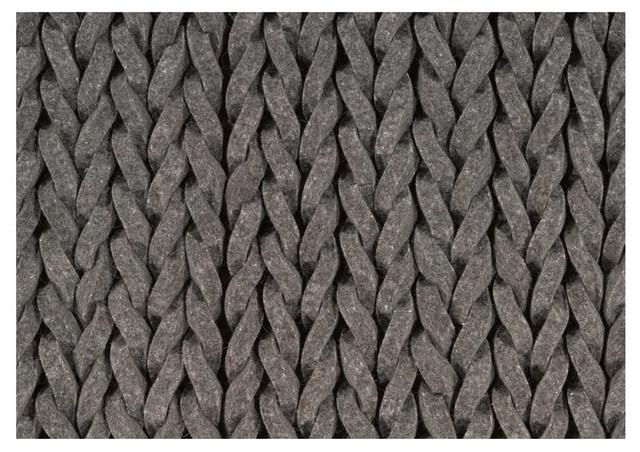 Weave Grey Rug modern-rugs