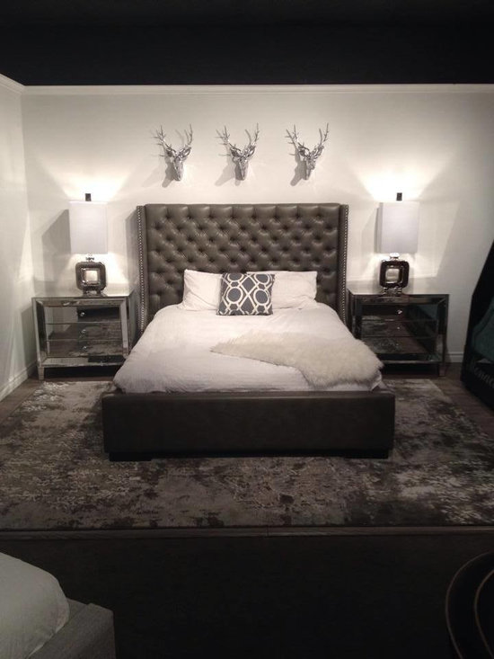 Toronto Showroom 2014 - Our luxurious and deep tufted Chelsea Storage Bed!