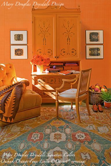 Mary Douglas Drysdale Signature Color Collection - Oushak Orange eclectic-wallpaper