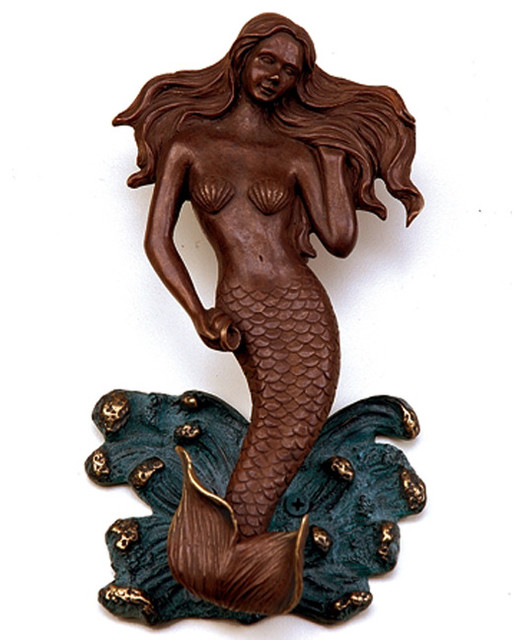 Mermaid door knocker tropical door knockers atlanta by iron accents - Mermaid door knocker ...