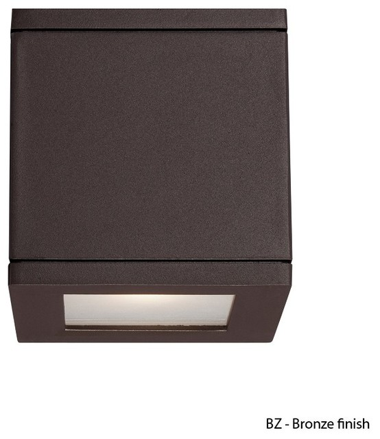 WAC Lighting Rubix WS-W2505 LED Outdoor Square Wall Light Fixture Box Shaped - Wall Sconces - by ...