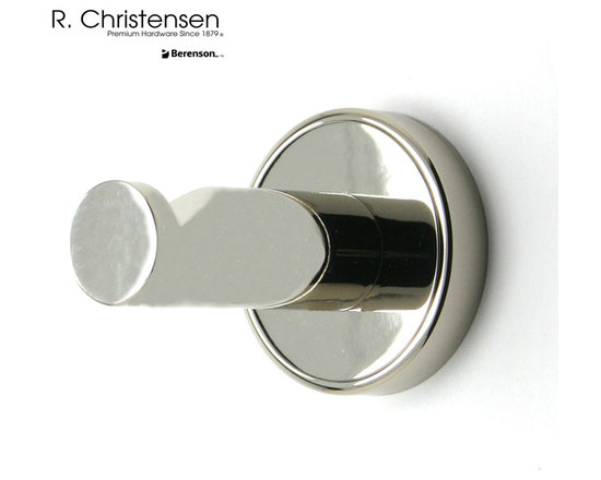 2209US14 Polished Nickel Single Garment Hook by R. Christensen - 2-1/2 inch long contemporary style single garment hook by R. Christensen in Polished Nickel.