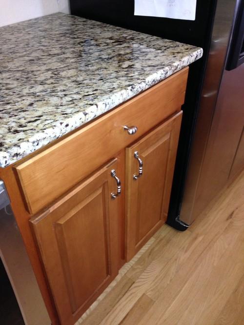 Granite install question Granite countertop overhang