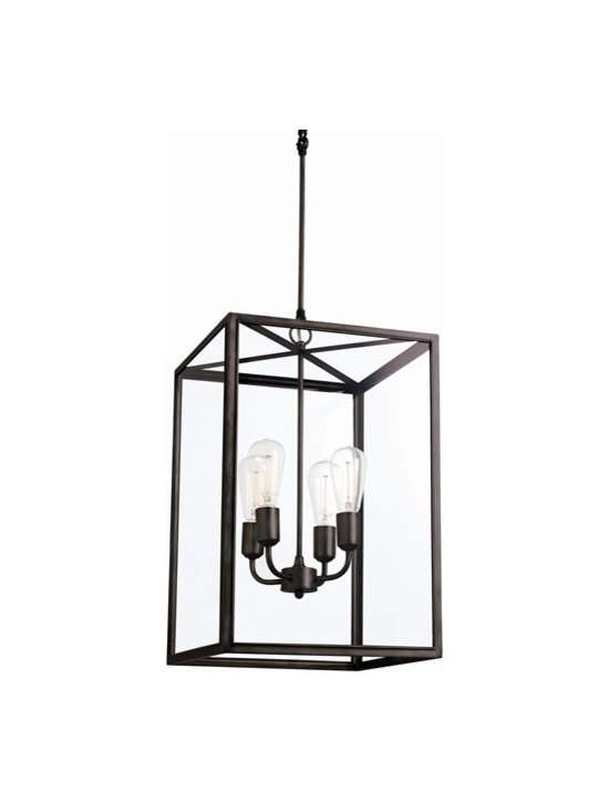 Arteriors Savannah 4 Light Bronze/Glass Pendant - Savannah 4 Light Bronze/Glass Pendant