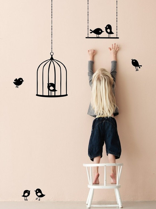 Ferm Living Tweeting Birds Wallsticker - Ferm Living Tweeting Birds Wallsticker