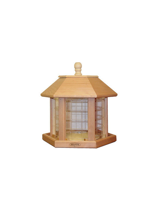 Heath - Le Grande Gazebo Feeder - Le Grande Gazebo Feeder (Cedar) Holds up to 20lbs of Seed. Comes Fully Assembled. Quality in every detail make Heath Bird Feeders a perfect addition to every backyard! Fill with Premium Mixed or All-Sunflower Seed