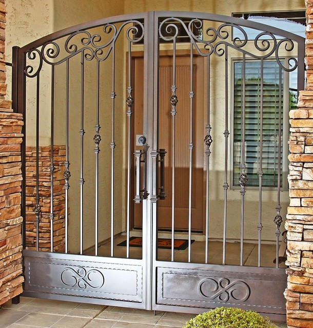 Tradtional Iron Gate By First Impression Security Doors Traditional Home