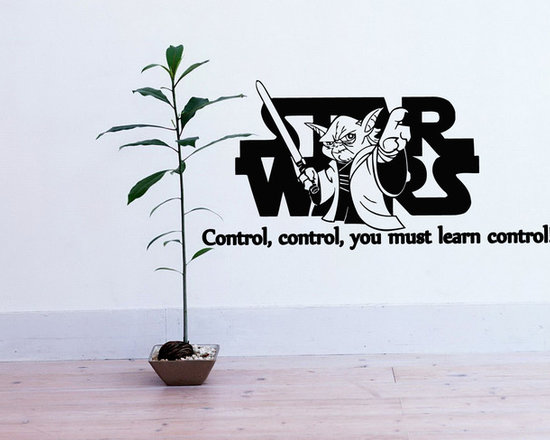 Vinyl Decals Learn Control Star Wars Quote Home Wall Decor Removable Sticker Mur -