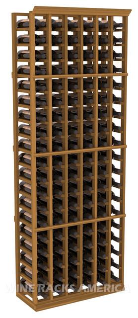 6 Column Standard Cellar Rack in Redwood with Oak Stain traditional-wine-racks