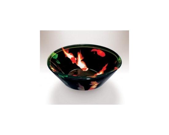 Asian Style Bathroom - Wells V827 China Treasures Series Glass Vessel
