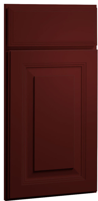 Red Paint Shaker Kitchen Cabinet Sample farmhouse kitchen cabinetry