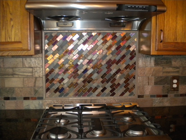 Mosaic Tile Backsplash Kitchen Cleveland By Architectural Justice