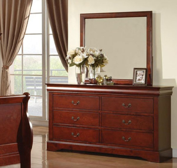 Acme Furniture Louis Phillipe Iii Cherry Dresser And