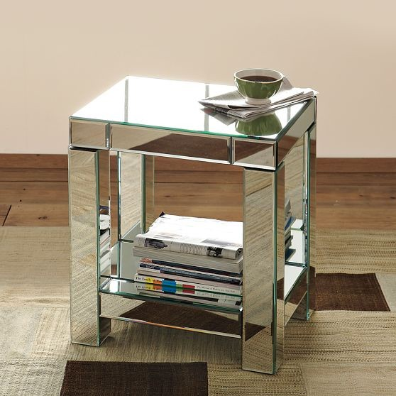 Parsons Mirror End Table Modern Side Tables And End