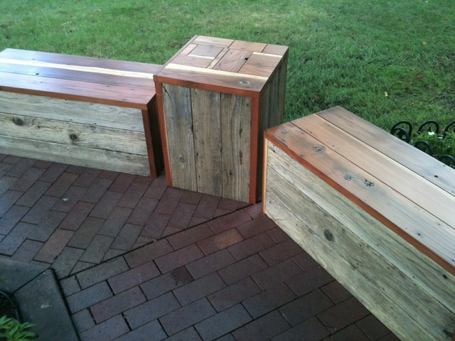 Reclaimed Redwood Furniture Rustic Outdoor Dining