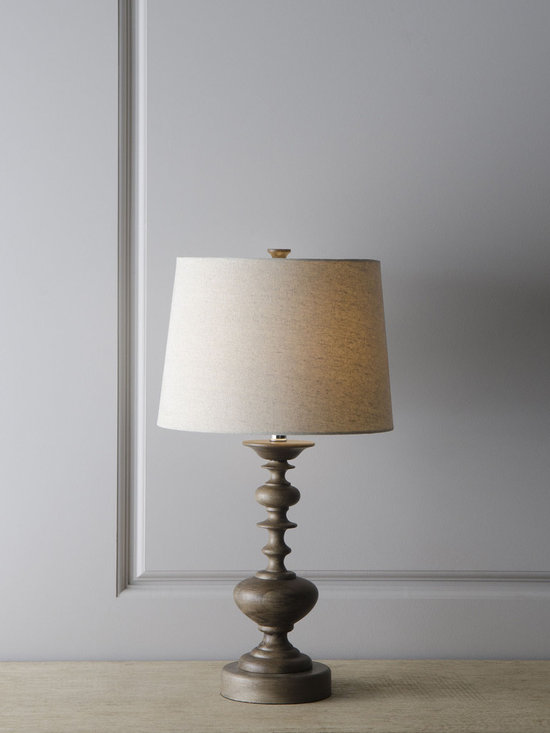 Contempo Turning Lamp - This lamp is neutral enough to work in a variety of settings, but its turned-wood base makes it distinctively lovely.