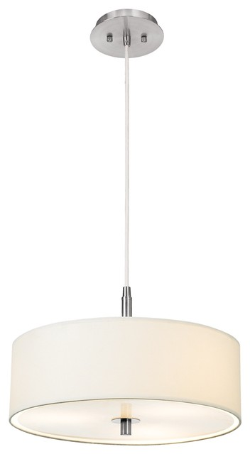 Contemporary White & Brushed Nickel Contemporary Pendant Light contemporary-pendant-lighting